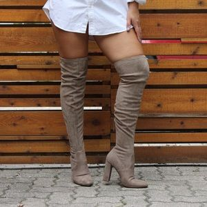Steve Madden knee high suede heels